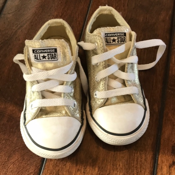 11436770c651 Converse Other - Toddler girls gold converse